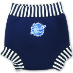 Swim Nappy Navy White Stripe