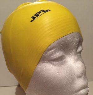 Yellow Latex Swimming Cap